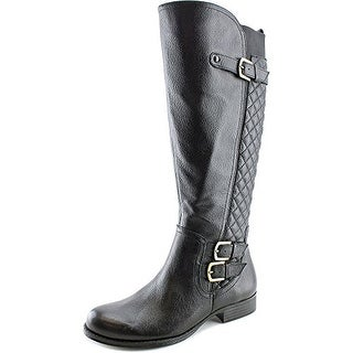 Naturalizer Jamon Wide Calf Women Round Toe Leather Knee High Boot