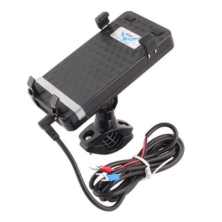 Motorcycle Bicycle Universal Cell Phone GPS USB Charger Holder Mount Bracket