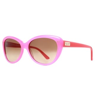 KATE SPADE Cat eye ANGELIQUE/S Women's JUY RY Pink/Orange Brown Gradient Sunglasses - 55mm-16mm-135mm