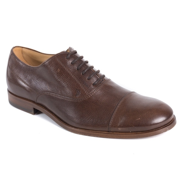 171d4c6f98 Shop Tods Mens Brown Leather Lace Up Cap Toe Derby Shoes - Free ...