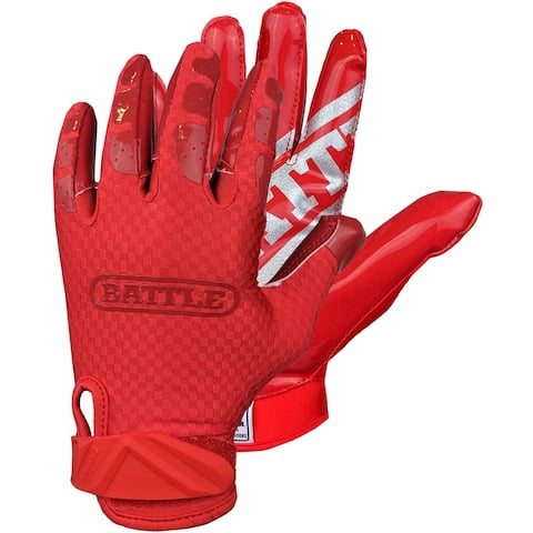 Battle Sports Science Triple Threat Adult Football Receiver Gloves - Red