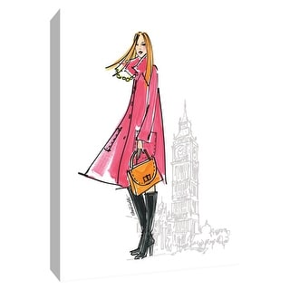 """PTM Images 9-154774  PTM Canvas Collection 10"""" x 8"""" - """"Colorful Fashion I - London"""" Giclee Women Art Print on Canvas"""