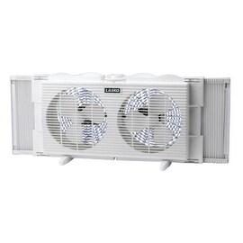 """Lasko 2137 Twin Window Fan, 7"""", White"""