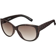 Esprit Sunglass Brown Cateye Fashion Plastic, Brown Gradient Lens 19378 532