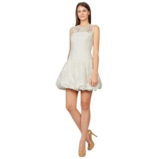 Rebecca Taylor Feminine Lace Taffeta Voluminous Bubble Skirt