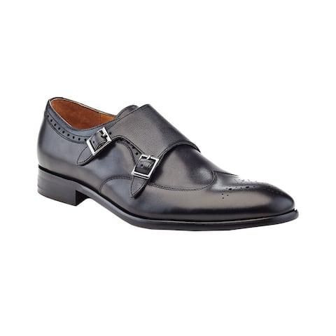 Ike Behar Hart Double-Monk Strap Leather Loafer