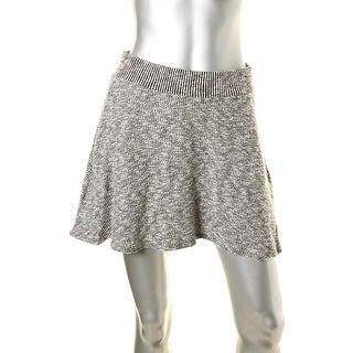 Michael Stars Womens Tweed Knit Marled Mini Skirt - S