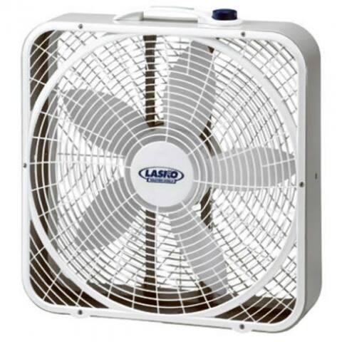 """Lasko 3720 Weather-Shield Performance Box Fan, 20"""""""