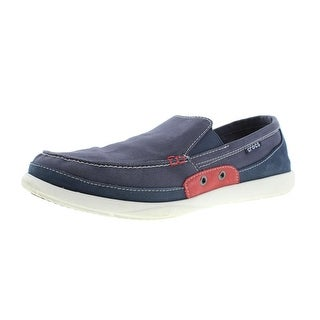 Crocs Mens Walu Canvas Slip On Loafers