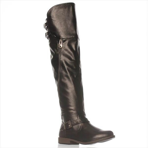 Luxe by JFab Caitlyn Riding Boots - Black