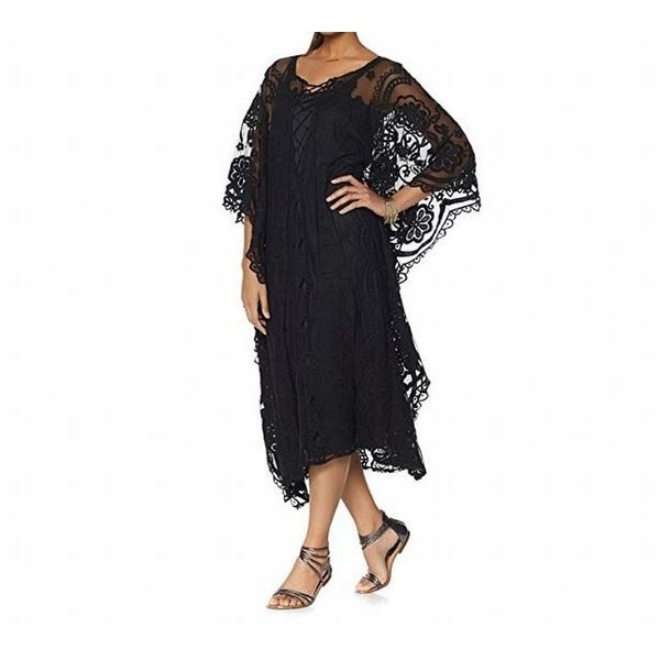 7d70a22f91c0 Shop Colleen Lopez NEW Black Women Size 3X Plus Lace Caftan Shift Dress -  Free Shipping On Orders Over $45 - Overstock - 19269688