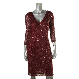 JS Collections Womens Mesh Embellished Party Dress
