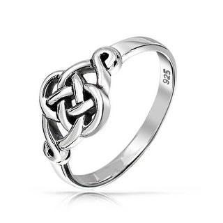 925 Sterling Silver Irish Celtic Love knot Ring (More options available)