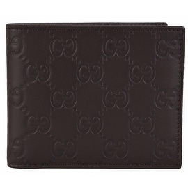 NEW Gucci 260987 Men's Brown Leather GG Guccissima Bifold Wallet