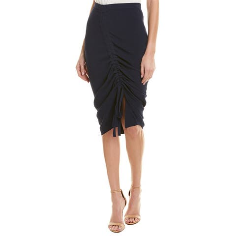 Milly Tunnel Draped Skirt