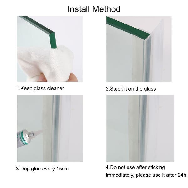 Anti-Fungal Shower Door Seal 4-6mm Glass 22-26mm Gap Translucent Cut To Size