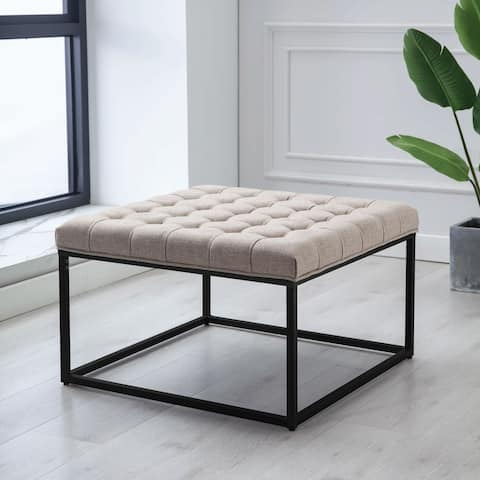Kotter Home Square Button Tufted Ottoman
