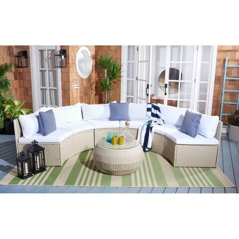SAFAVIEH Outdoor Jesvita Wicker Living Set