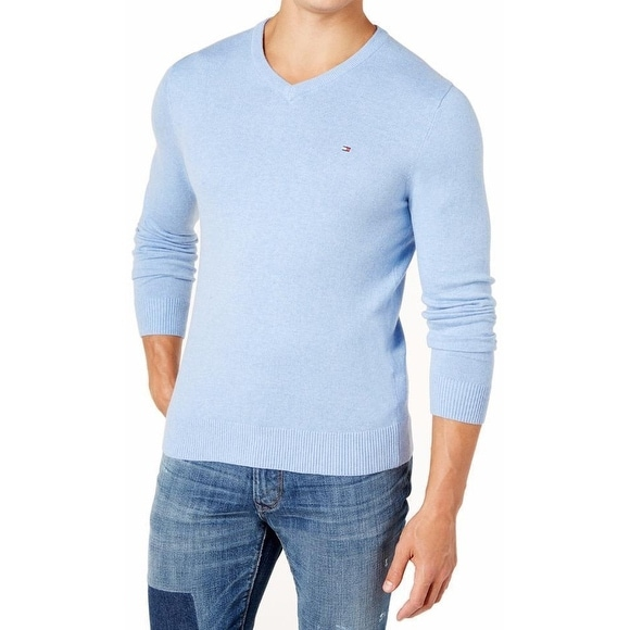 a7f093be6 Shop Tommy Hilfiger NEW Blue Mens Size 3XL Solid V-Neck Signature Sweater -  Free Shipping On Orders Over $45 - Overstock - 19573833