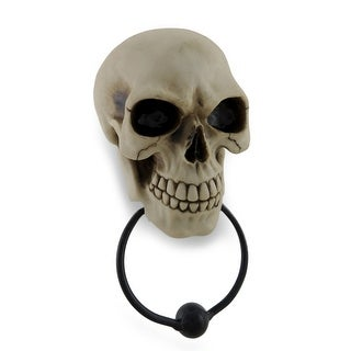 Gothic Skull Face Sculptural Door Knocker
