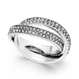 INC International Concepts Silver-Tone Pavé Interlocked Ring - Silver