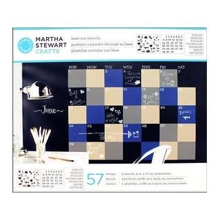 Martha Stewart Stencil Chalkboard Calendar