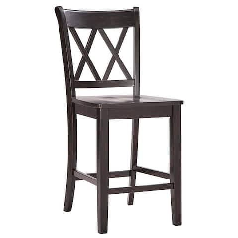Eleanor X-Back Wood Counter Chairs (Set of 2) by iNSPIRE Q Classic