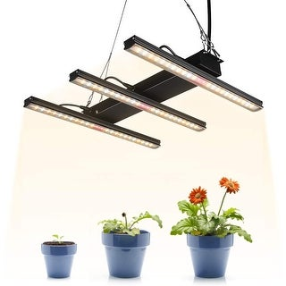 Link to LED Grow Light Fixture Full Spectrum, Integrated Linkable Plant Lamp - Black Similar Items in Grow Lights