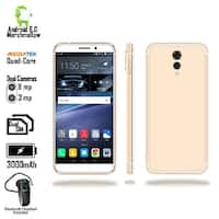 "4G LTE GSM Unlocked 5.6"" Android SmartPhone by Indigi (4Core @ 1.2GHz + Fingerprint + DualSIM) + Bluetooth Headset"