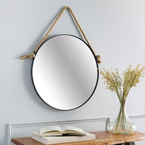 Tedd Modern Nautical Hanging Round Mirror