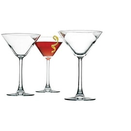 Palais Contemporary Cosmopolitan Cocktail - Martini Glasses, Set of Four (4) (Clear, 10 Oz)