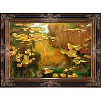 Claude Monet 'Water Lilies' (Luxury Line) Hand Painted Oil Reproduction