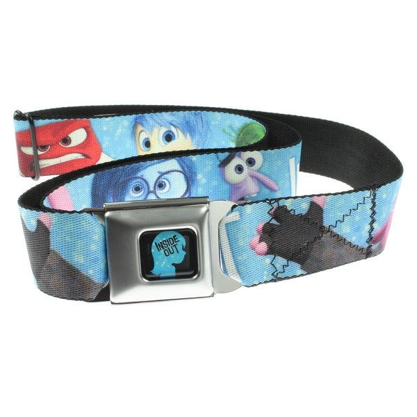 Inside Out 6 Emotion Characters Seatbelt Belt-Holds Pants Up