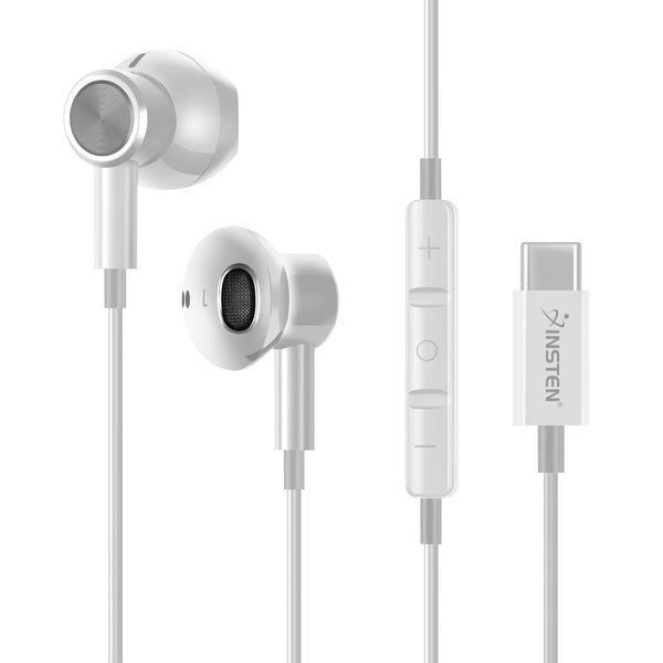 USB-C In-Ear Magnetic Wired Headset with Microphone, White. Opens flyout.
