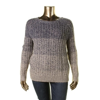 Lucky Brand Womens Wool Blend Marled Pullover Sweater