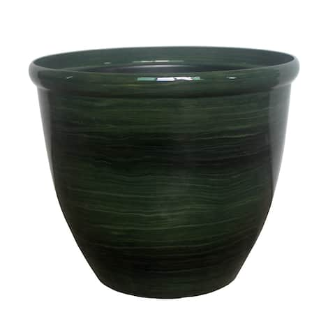 "The Your Choice 10"" Oriental Indoor and Outdoor Plastic Resin Planter Pot. 10"" Planter and Pot - 10 Inches"