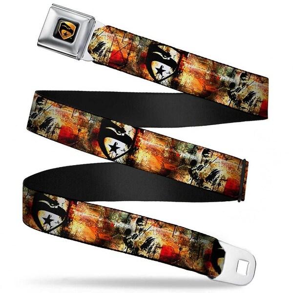 Gi Joe Eagle Badge Full Color Black Gold Gi Joe Eagle Badge Snake Eyes Seatbelt Belt