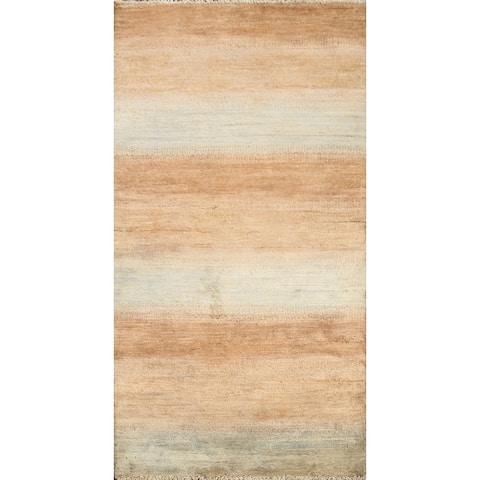 "Contemporary Gabbeh Kashkoli Oriental Runner Rug Wool Hand-knotted - 2'5"" x 4'8"""