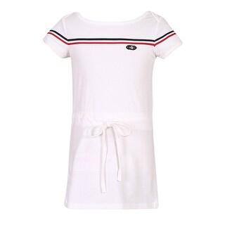 Richie House Girls' Knit Medium Dress with Adjustable Waist