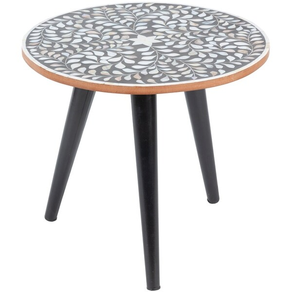 Carson Carrington Inverness Black Handcrafted End Table. Opens flyout.