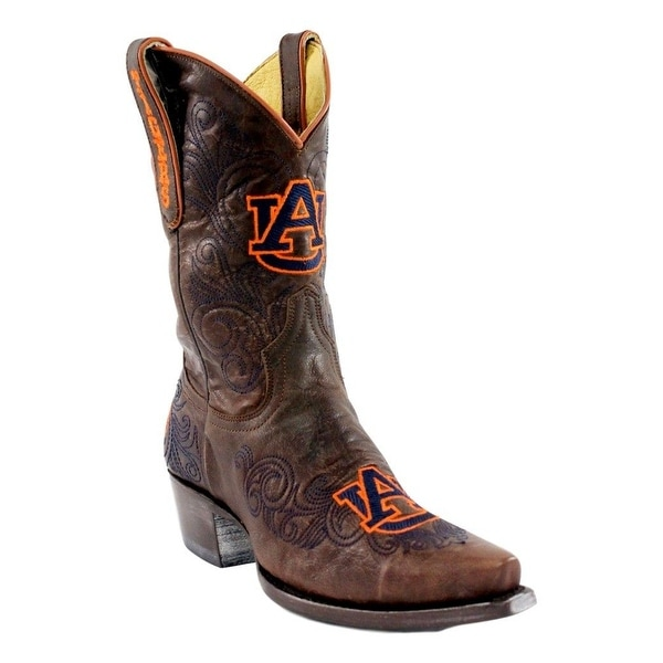 Gameday Boots Womens Auburn Snip Toe Leather Pull On