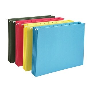 Smead Letter Size Full Cut Hanging File Folders, Assorted Colors, Pack of 4