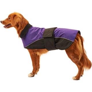 Purple Small - Dog Waterproof Reflective Coat