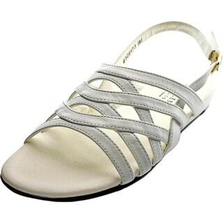 Mark Lemp By Walking Cradles Lanie 4A Open-Toe Leather Slingback Sandal