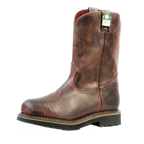 Boulet Work Boots Mens Leather ST Lenzi Goodyear Laid Back Copper