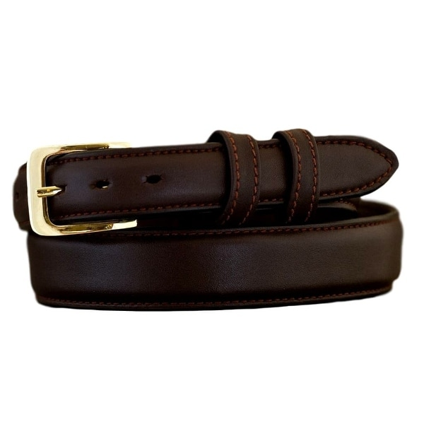 Vogt Silversmiths Western Belts Mens Smooth Stitched Brown