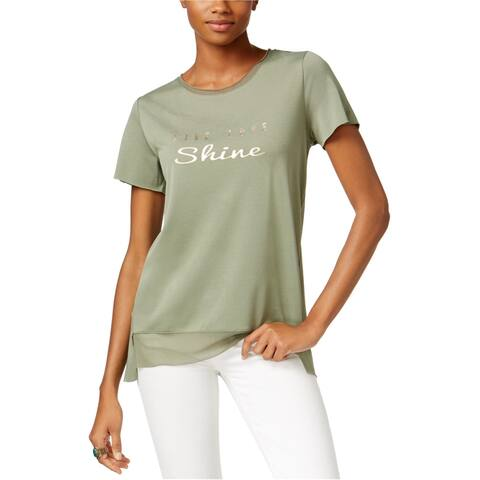 Jamie & Layla Womens Live Love Shine Graphic T-Shirt