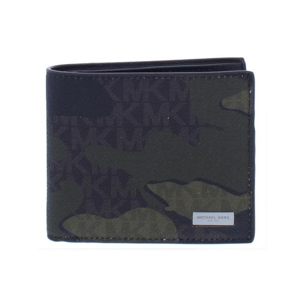 ff92dde62e8a Shop Michael Kors Mens Jet Set Bifold Wallet Faux Leather Camouflage ...