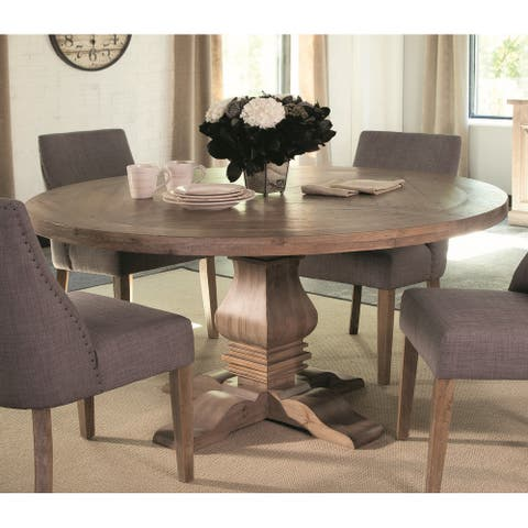 """Carbon Loft Nightingale Round Wood Dining Table - Brown - 30"""" x 59.75"""" - 30"""" x 59.75"""""""