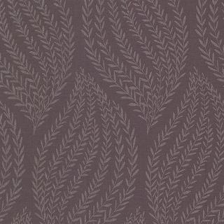 Brewster 671-68510 Calix Purple Sienna Leaf Wallpaper